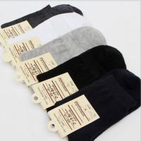 Thanksgiving Day white tube socks - Men s classic solid business casual sports cotton medium tube sock spring autumn mens socks for men