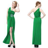 Model Pictures one shoulder evening dress - HE09542 Exquisite One Shoulder Rhinestones Floor Length Evening Dresses