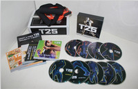 Cheap Shaun FOCUS T25 WORKOUT Crazy Potent Slimming Training Set Home Body Exercise Fitness Video 10DVD with Pull Rope Alpha Bet Core Speed