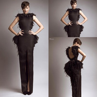 Reference Images Scoop Satin Free Shipping 2014 New Glamorous Brown Bateau Keyhole Back Slit Peplum Feather Evening Dresses