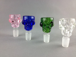 Wholesale Manufacturer joint skull glass smoking bowl G O G bowl for water pipe many color skull shape many color