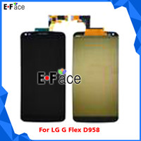 For LG LCD Screen Panels Black Wholesale Q0081 - LCD Display Touch Screen Digitizer Assembly 10pcs lot For LG G Flex D958 D950 D955 F340 - Free DHL Shipping