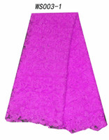 Wholesale African water soluble embroidery chemical lace fabric in elegant colors