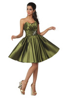 Reference Images Taffeta Strapless 2014 Taffeta Corset Short Army Olive Green Homecoming Dresses Strapless Shiny Beaded Sequins Crystals Bridal Party Cocktail Women Prom Gowns