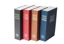 Wholesale Metal Cash Secure Hidden New English Dictionary Booksafes Homesafe Money Box Coin Books Safe Secret Piggy Bank S size freeshipping