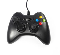 Wholesale Wired USB Game Controller Joystick Vibration Gamepad White For PC Laptop