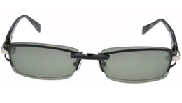 Wholesale Hot selling New Dark Green polarized lens mini clip on sunglasses Driving Night Vision for man woman care and traveling