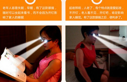 Wholesale Strength Fashion LED Reading Glasses w Plastic Case Night Reader Eye Light Up Eyeglass Spectacle Diopter Magnifier Pr