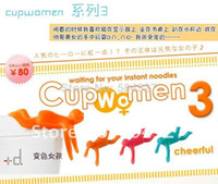 0-12M Metal OEM Free Shipping 10Pieces Cupmen 3 Cupwomen Instant Noodle Figure Set of Three Cup ramen readiness indicators