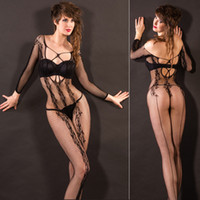 Wholesale sexy ladies lingerie mesh pantyhose sexy body stockings girl s sexy sleepwear jacquard socks adult night wear sexy underwear