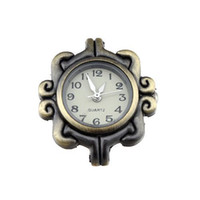 Wholesale 1Pcs Vintage Bronze Ornate Watch Face For Beading DIY Jewelery x27x7mm
