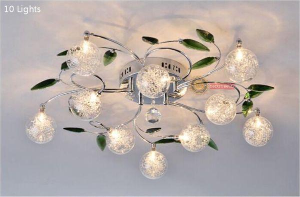 Moderno k9 cristallo foglie di alluminio palle di vetro ombra ...