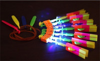 Wholesale 2014 NEW ARRIVAL Large Amazing LED Arrow Helicopter Powered Boomerang Frisbee kids toys