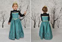 In Stock Elsa Princess Dresses Autumn Clothing Dresses Girls...
