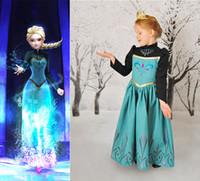 1PC 2014 Frozen Princess Dresses Autumn Clothing Dresses Gir...