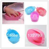 Cheap Wholesale-Nail Art Tips Soak Bowl Tray Treatment Remover Manicure UV Gel Acrylic Nail Art Equipment Tools