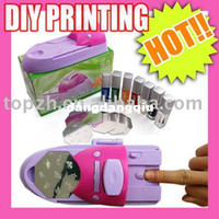 Nail Art Equipment best fast printing - Best Selling Fast Shipping Diy Printing Art Nail Stamper Kit Colours Printer Machine Tool C050