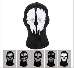 Wholesale 2014 New High Quality Ghost Ski Full Face Mask For Call of duty Ghosts Protagonist mask