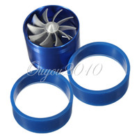 Handlebars Universal Air Intakes Universal Car Fuel Gas Saver Supercharger Turbine Turbo Charger Air Intake Fan Blue Turbocharger Free Shipping Wholesale
