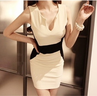 2014 Lady Fashion Dress New Arrival One piece bodycon Short ...