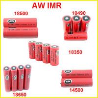Precio de Mod baterías baratas-AW IMR 18350 18490 18500 14500 18650 Batería LI-MN de alto consumo para Modos Mecánicos Itaste Vamo Cigarrillos Electrónicos cig kits baratos