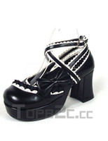Wholesale Charming Black High Heel Platform PU Womens shoes Lolita Shoes