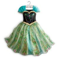 TuTu Summer A-Line %100 High Quality Newl Frozen Flower Girl Dress Elsa Anna Princess Wedding Children Party Dresses Baby Birthday Dress Kids Clothes GX700