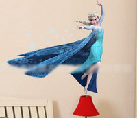 Wholesale 2014 New Arrival Children Cartoon Tags Frozen Elsa Princess Removable Wall Sticks Home Decor Art Kids Nursery Kindergarten DIY Toy I1417
