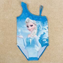 Frozen Elsa Swimsuit Baby Girl Swimwear Beach Swimsuit Cartoon Frozen Children Cartoon Swimwear Kids Summer Clothing New 2014 Nova R5252