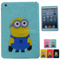 "Protective Shell/Skin 7'' For Apple Cute Cartoon Despicable Me Minions Soft Silicone Smart Case Cover For Apple iPad Mini 1 2,Cheap items 7.9"" Tablets Accessories"