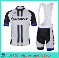 Wholesale GIANT white and black bicycle wear newest bike jersey bicycle jersey and mens xxxl cycling shorts in particular