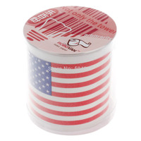 Toilet Tissue OEM Recycled Pulp EMS Free Shipping Wholesale 50Pieces America Flag Toilet Paper USA Pattern Roll Paper