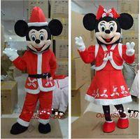 ohlees marca profesión de Navidad de Minnie y mickey mouse Gracioso personaje mascota de la escuela disfraces de Halloween adultos de tamaño costomize