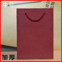 Paper Hand Length Handle Yes Free shipping 20pcs lot 24cm*8cm*35cm kraft paper gift bag, , Festival gift bags, Paper bag with handles, wholesale
