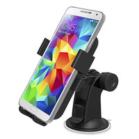 Universal   Easy One Touch Car Mount Phone Holder Universal Windshield Dashboard 360 degree Rotating Bracket for Samsung S5 S4 S3 Note3 Note2 Newest