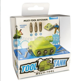 Wholesale Sets Original Spinning Hat Tool Tank Key Ring Mini Screwdriver Multi tool Key Chain