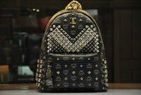 Wholesale Backpack backpack new rivet female exobiology with student travel bag backpack