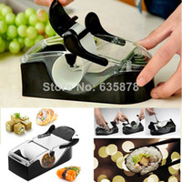 Stainless Steel CE / EU Eco-Friendly,Stocked High Quality Kitchen Perfect Magic Roll Easy Sushi Maker Cutter Roller Machine Mold DIY Tool Free Shippping