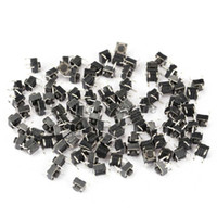 60704 As picture show High quality 100pcs Tactile Push Button Switch Momentary Tact 6x6x5mm DIP Through-Hole 4pin