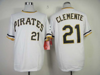 Wholesale Mens Baseball Jacket Pittsburgh Pirates Clemente Discount Sports Jerseys Highest Quality Soccer Wears Cheap Baseball Uniform in Stock