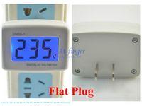Wholesale AC Power volt Voltage Monitor Meter gauge V AC LCD digital Voltmeter Household Factory Switch Flat Plug AC V V B0042