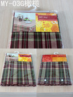 Wholesale Cotton Table Cover Tablecloth rectangle x plaid multicolor fabric nice for picnic table