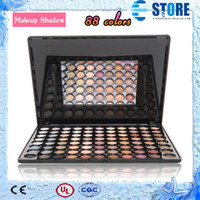Wholesale Pro New Full Color Eye shadow Palette Natural Matte Cold Color Eye Makeup Glitter With Mirror Box wu
