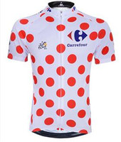 Shirts Anti Bacterial Unisex 2014 LE TOUR DE FRANCE POLKA-DOT JERSEY Winner Jerseys 100% polyester Cycling Shirts with a Broad Filigree Rose on the Chest Cycling Shirts