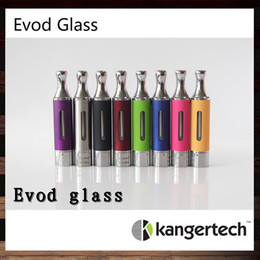 Original Kangertech Evod Glass Cartomizer Kanger Evod Glass Colorful Clearomizer Kangertech Evod Glass Atomizer With Rebuidable Dual Coils
