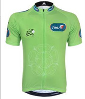 Shirts Anti Bacterial Unisex 2014 LE TOUR DE FRANCE Green Jerseys Winner Jerseys 100% polyester Cycling Shirts with a Symbol of Yorkshire Rose Cycling Shirts