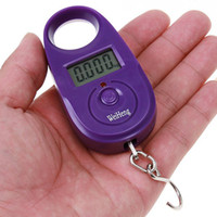 Cheap 25kg*5g 25kgx5g 25kg-5g Mini Purple Display Hanging Luggage Fishing Weighing Digital Scale KG LB, dropshipping H4680