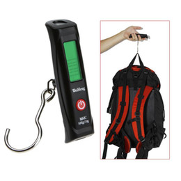 Wholesale 50kg g LCD Display Digital Portable Travel Luggage Fishing Weight Hook Hanging Scale dropshipping H8973