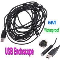 Wholesale Video USB Endoscope IP66 Waterproof Inspection Camera Borescope M MM Lens Resolutions pixels H4894