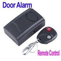 Wholesale Wireless IR Remote Control Micro Vibration Triggered Door Window Alarm dropshipping H4077